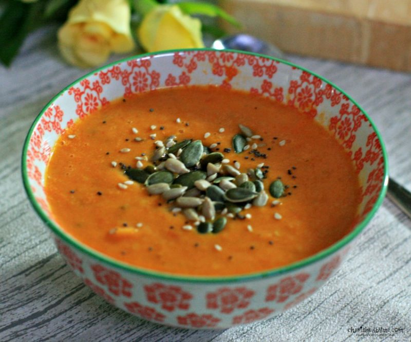 roasted tomato & rosemary soup