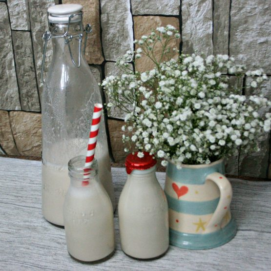 Homemade almond milk- featured image cherishedbyme.com
