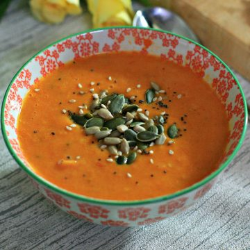 Roasted Tomato soup- featured image cherishedbyme.com