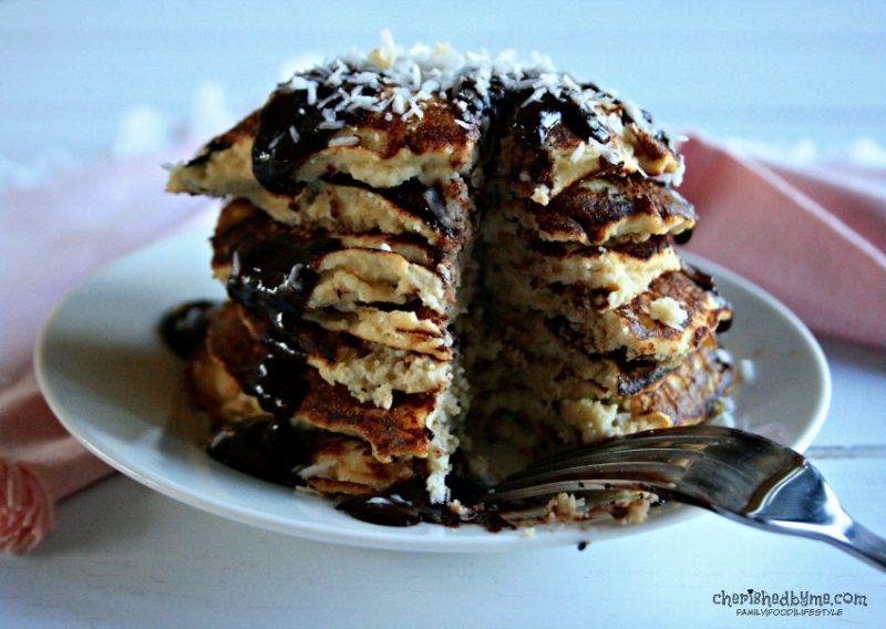 Coconut Pancakes -refined sugar free & dairy & gluten free # ...