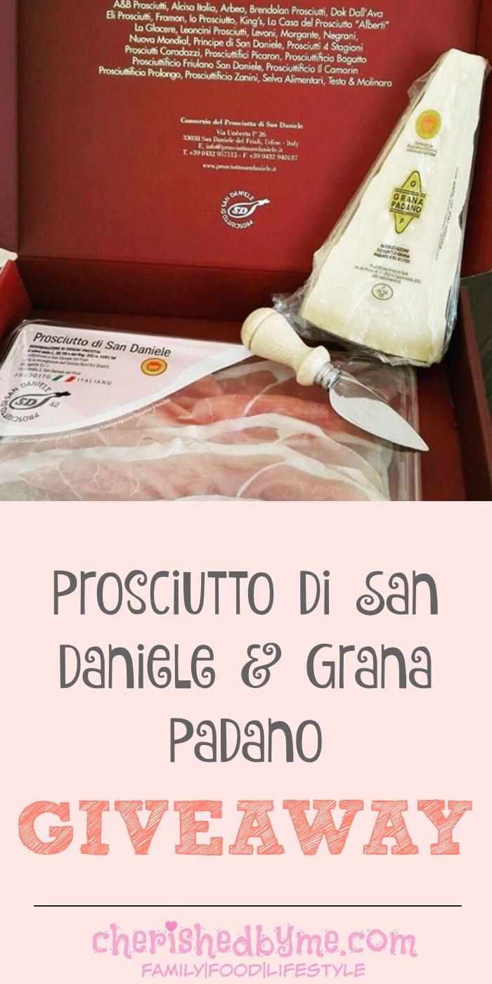 Prosciutto di San Daniele & Grana Padano giveaway